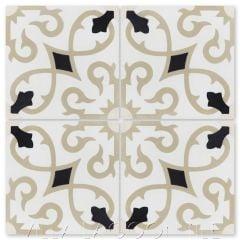 """Charlotte Primero"" Spanish Cement Tile, from Villa Lagoon Tile."