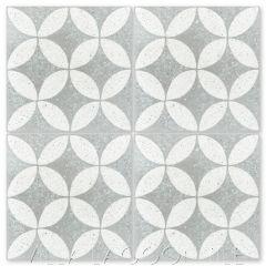 """Circulos B Urban Gray Terrazzo"" Geometric Cement Tile, from Villa Lagoon Tile."