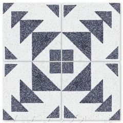"""Code Talker B Terrazzo"" Modern Geometric Cement Tile, by Villa Lagoon Tile."