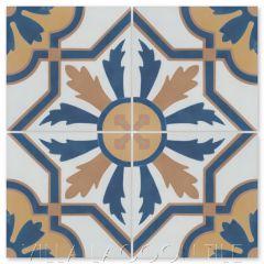 """""""Conga Reggio"""" Cuban Cement Tile, from Villa Lagoon Tile."""