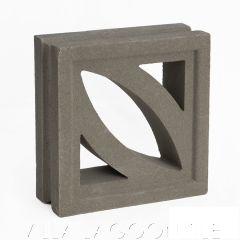 """Cozumel"" Natural Gray Geometric Breeze Blocks, by Villa Lagoon Tile."
