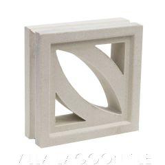 """Cozumel"" Natural White Geometric Breeze Blocks, by Villa Lagoon Tile."