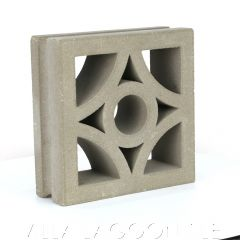 """Curacao"" Natural Gray Geometric Breeze Blocks, by Villa Lagoon Tile."