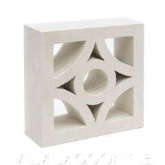 """Curacao"" Natural White Geometric Breeze Blocks, by Villa Lagoon Tile."