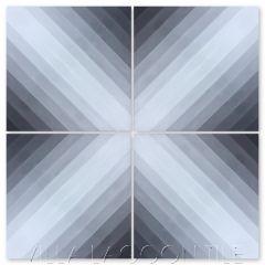 Diagonal Sixteen Black Ombré