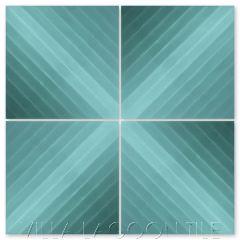 """Diagonal Sixteen Nile Blue Ombré"" Striped Cement Tile, from Villa Lagoon Tile."