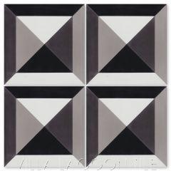"""Diamond Head Sencillo"" Modern Geometric Cement Tile, from Villa Lagoon Tile."
