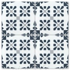 """Dorottya Navy"" Geometric Cement Tile, from Villa Lagoon Tile."
