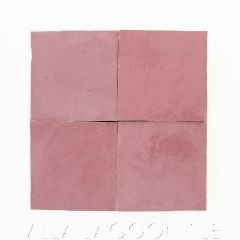 """""""Dusty Rose"""" Glazed Zellige, a Moroccan Mosaic Tile, from Villa Lagoon Tile."""