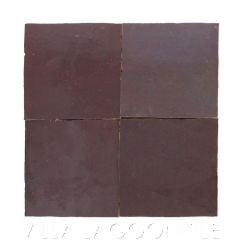 """Eggplant"" Glazed Zellige, a Moroccan Mosaic Tile, from Villa Lagoon Tile."