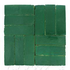 """Emerald Green"" Bejmat Zellige, a Moroccan Mosaic Tile, from Villa Lagoon Tile."