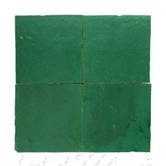 """""""Emerald Green"""" Glazed Zellige, a Moroccan Mosaic Tile, from Villa Lagoon Tile."""