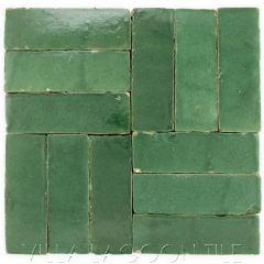 """Evergreen"" Bejmat Zellige, a Moroccan Mosaic Tile, from Villa Lagoon Tile."
