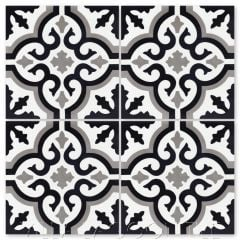 """Fiore C Sencillo"" Floral Cement Tile, from Villa Lagoon Tile."