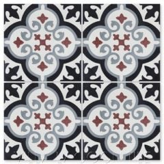 """Fiore E Winter"" Floral Cement Tile, from Villa Lagoon Tile."