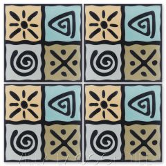 """Fresh Air Primero"" Fun Cement Tile, by Villa Lagoon Tile."