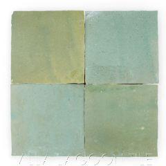 """Garden Grove"" Glazed Zellige, a Moroccan Mosaic Tile, from Villa Lagoon Tile."