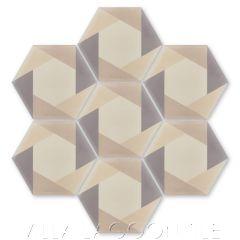 """""""Hex Cane Primero"""" Geometric Cement Tile, by Villa Lagoon Tile."""