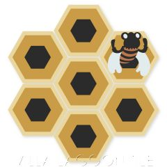 """""""Honey Comb & Bee on Maple Sugar"""" Whimsical Wildlife Cement Tile by Jeff Shelton, from Villa Lagoon Tile."""