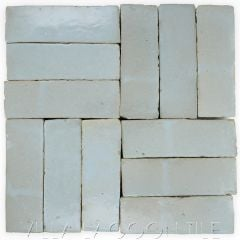 """Iceberg"" Bejmat Zellige, a Moroccan Mosaic Tile, from Villa Lagoon Tile."