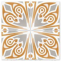 """Ignatius Gold"" Art Deco Cement Tile, from Villa Lagoon Tile."