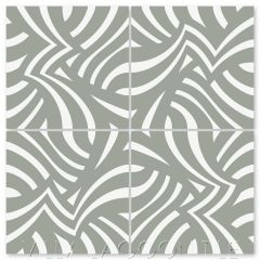 """Imagine Gray Patina"" Modern Striped Cement Tile by Neyland Design, from Villa Lagoon Tile."
