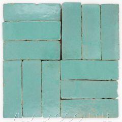 """Jadeite"" Bejmat Zellige, a Moroccan Mosaic Tile, from Villa Lagoon Tile."