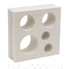 """Jamaica"" Natural White Modern Breeze Blocks, by Villa Lagoon Tile."