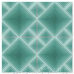 """Jibe Nile Blue Ombré"" Modern Geometric Cement Tile, from Villa Lagoon Tile."