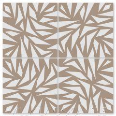 """Jumbelina Cafe Latte"" Modern Cement Tile by Neyland Design, from Villa Lagoon Tile."