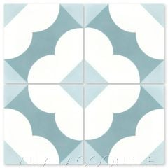 """Katie Caribbean"" Floral Cement Tile, from Villa Lagoon Tile."