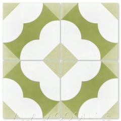 """Katie Fresco"" Floral Cement Tile, from Villa Lagoon Tile."