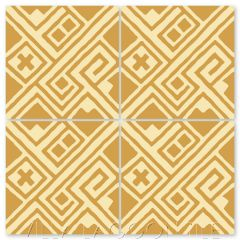 """Kuba Gold"" Modern Fabric-Style Cement Tile by Neyland Design, from Villa Lagoon Tile."