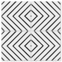"""Labyrinth Black & White"" Modern Geometric Cement Tile, from Villa Lagoon Tile."