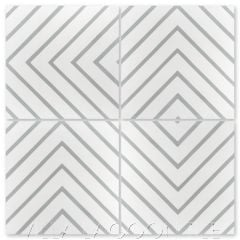 """Labyrinth Misty Gray"" Modern Geometric Cement Tile, from Villa Lagoon Tile."