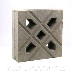 """Lanai"" Natural Gray Geometric Breeze Blocks, by Villa Lagoon Tile."