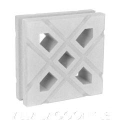 """Lanai"" Natural White Geometric Breeze Blocks, by Villa Lagoon Tile."