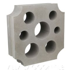 """""""Large Azores"""" Natural Gray Swiss Cheese Breeze Blocks, by Villa Lagoon Tile."""