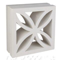 """Large Ibiza"" Natural White Floral Breeze Blocks, by Villa Lagoon Tile."