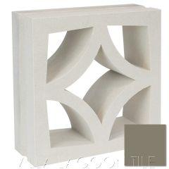 """Large Malta"" Natural Gray Geometric Breeze Blocks, by Villa Lagoon Tile."