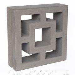 """Large Tonga"" Natural Gray Geometric Breeze Blocks, by Villa Lagoon Tile."