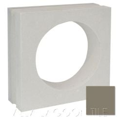 """Large Tortola"" Natural Gray Porthole Cement Tile, by Villa Lagoon Tile."
