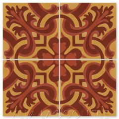 """Madeira Hearts Ablaze"" Traditional-Style Cement  Tile, by Villa Lagoon Tile."