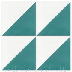Man Overboard Teal & White
