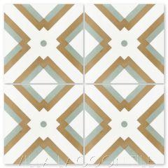 """Manhattan Bronze"" Modern Geometric Cement Tile, by Villa Lagoon Tile."
