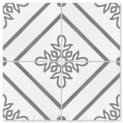 """Marbella Seagull"" Floral Cement Tile, from Villa Lagoon Tile."