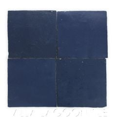 """""""Mariana Blue"""" Glazed Zellige, a Moroccan Mosaic Tile, from Villa Lagoon Tile."""