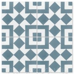 """Marrakesh A Stone Blue"" Geometric Cement Tile, from Villa Lagoon Tile."