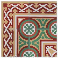 """Mas Equis Border"" Cuban Cement Tile Border to match ""Bolero Autentico"", from Villa Lagoon Tile."