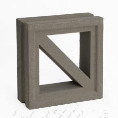 """Maui"" Natural Gray Geometric Breeze Blocks, by Villa Lagoon Tile."